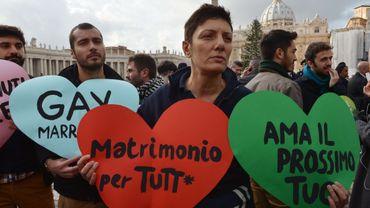 Les manifestants ont été empêchés d'approcher le pape.