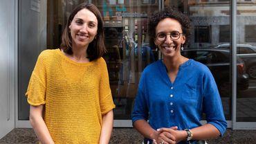 Isabelle Grippa, CEO hub.brussels et Barbara Trachte, Secrétaire d'Etat en charge de la transition économique