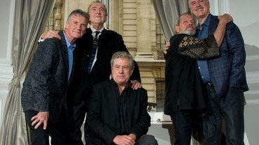 Les Monthy Python (de gauche à droite) : Michael Palin, Eric Idle, Terry Jones, Terry Gilliam et John Cleese