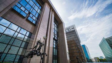 Le bâtiment Justus Lipsius, siège du Conseil de l'Union européenne.