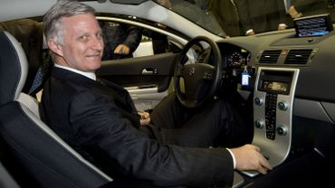 Le Roi a participé à l'inauguration du Salon de l'Auto, ce mercredi