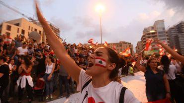 Protestation à Beyrouth, le 20 octobre