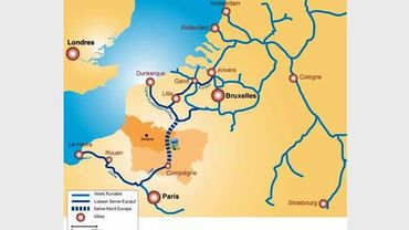 Le canal Seine-Nord Europe devrait relier le bassin de la Seine à celui de l'Escaut.