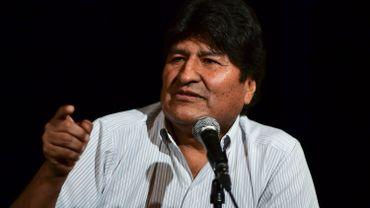 l'ex-président Evo Morales, actuellement exilé en Argentine