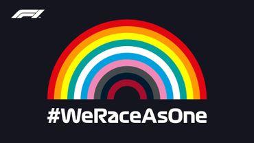 Le logo arc-en-ciel #WeRaceAsOne a été créé avec les couleurs de toutes les écuries composant la grille de F1
