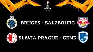 Bruges affrontera Salzbourg, Genk jouera le Slavia Prague en Europa League