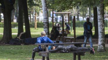 Sept personnes ont été arrêtées ce mercredi au parc Maximilien