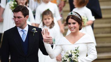 Grande-Bretagne: la princesse Eugenie, la petite-fille d'Elizabeth II, s'est mariée à Windsor