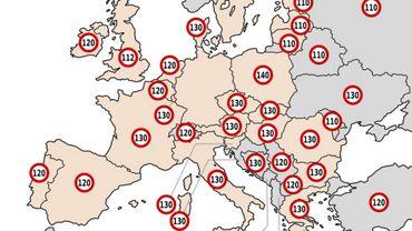 Vitesse maximale: hausser comme la Belgique ou baisser comme la France? L'exemple danois