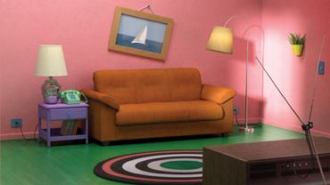 """Le séjour des """"Simpson"""" reproduit avec du mobilier du catalogue IKEA"""