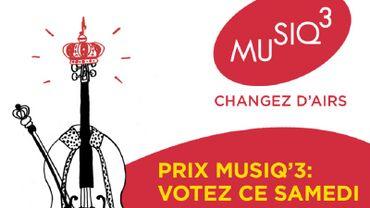 Le Prix Musiq'3 du public : votez pour votre candidat préféré !