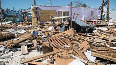 Les dégâts provoqués par le passage de l'ouragan Irma, le 12 septembre 2017 à Islamorada, dans les Keys, en Floride