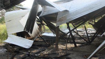 Une maison brûlée lors de l'attaque d'un village du comté de Lamu le 6 juillet 2014 (illustration).