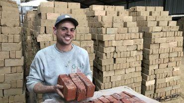 La brique de Hesbaye, le fruit du travail de Mathieu Guitoun, jeune entrepreneur dynamique.