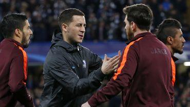 Eden Hazard et Lionel Messi en Ligue des Champions