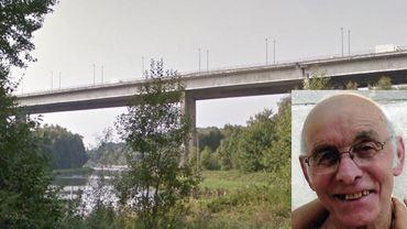 Le corps sans vie de Bruno Trezza (en médaillon) a été retrouvé à proximité du viaduc de Viesville