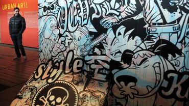 """Sur la fresque, baptisée """"Heroic Parade"""", se côtoient notamment Popeye, Mickey et Astro le petit robot"""