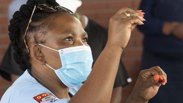 La ministre sud africaine de la santé, Cape Town en Afrique du Sud, pays particulièrement touché par le covid-19