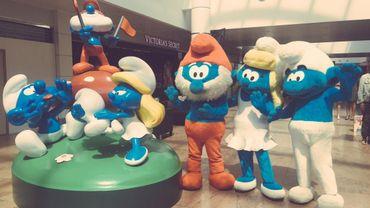 Les statues des Schtroumpfs ont été inaugurées à Brussels Airport