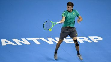 David Goffin sur le court de l'European Open en 2017