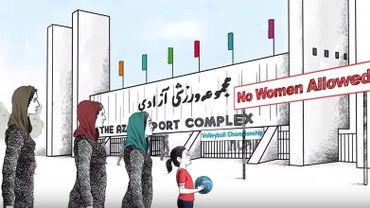 En Iran, les femmes ne peuvent assister à certaines rencontres sportives.