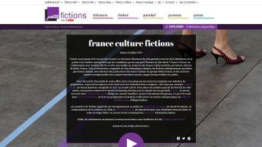 France Culture Fictions - capture d'écran du site