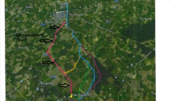 Voici le tracé approximatif de la future route