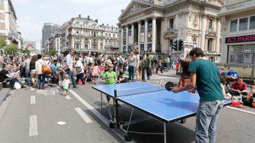 Rendre le centre-ville de Bruxelles aux piétons, c'était la revendication des manifestants de pic-nic Brussels le 9 juin dernier