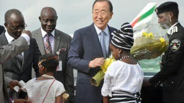 Le secrétaire général de l'ONU Ban Ki-moon, le 23 août 2015 à Abuja