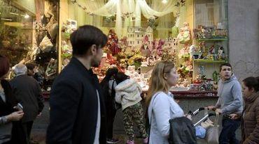 La vitrine d'un magasin de jouets de la Gran Via à Madrid, le 20 novembre 2014