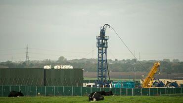 Un site de fracturation hydraulique près de Blackpool, dans le nord-ouest de l'Angleterre, en octobre 2018