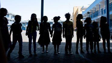 Des enfants dans une école de l'UNRWA, à Jabaliya