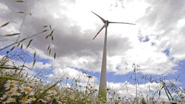 Une éolienne en Pologne