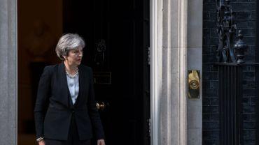 """Theresa Maye a dénoncé ce vendredil'attentat """"lâche"""" du métro de Parsons Green à Londres."""