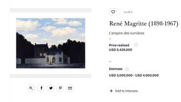 Une autre toile de la série avait été vendue un peu plus de 5 millions de dollars.