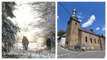 Balade dans les Hautes-Fagnes en début février et église de Burg-Reuland (images d'illustration)