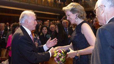Le président du jury du Concours Reine Elisabeth et la reine Mathilde à Flagey