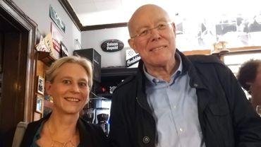 Catherine Morenville (Ecolo) aux côtés de Charles Picqué (PS)