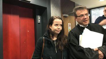 Fanni-Maria Harma et son avocat Francois Jongen