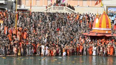 Le festival de Kumbh Mela le 11 mars 2021 à Haridwar, Etat de Uttarakhand, en Inde
