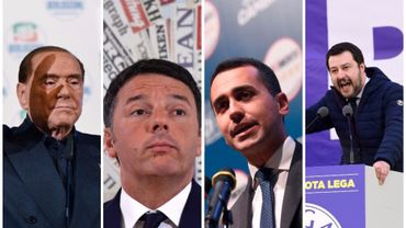 Silvio Berlusconi, Matteo Renzi, Luigi Di Maio, Matteo Salvini,
