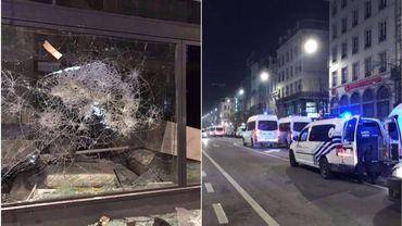 Deux auteurs présumés ont été arrêtés dans le cadre des incidents dans le centre de Bruxelles, durant la nuit du 11 au 12 novembre