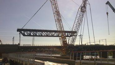 Toutes les poutres métalliques du pont ont été remplacées.