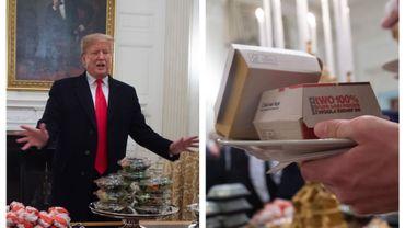Donald Trump pas peu fier de son buffet garguantuesque... typiquement US...