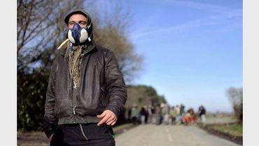 Un militant opposé au projet de Notre-Dame-des-Landes, près de Nantes, le 12 décembre 2012