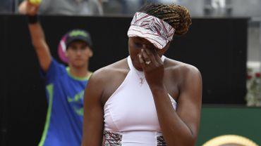 Venus Williams éliminée en 8e de finale à Rome