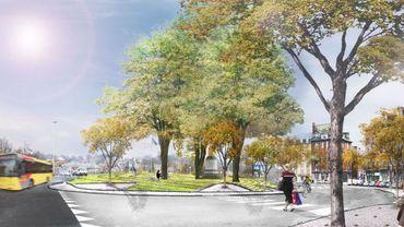 Le projet d'aménagement urbain prévoit de transformer le rond-point Léopold en une place pleine de vie.