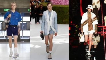 Mini-shorts: Xander Zhou/Dior/Fendi