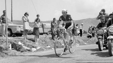 Roger Pingeon, lors de la 15ème étape du Tour de France 1968, qu'il va remporter