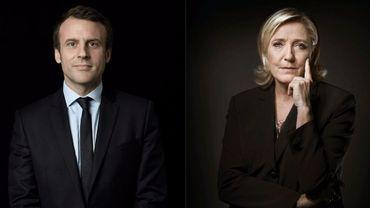 Emmanuel Macron et Marine Le Pen, candidats au second tour de l'élection présidentielle française 2017